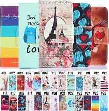 Patterned PU Leather Skin Protective Cover For Samsung Wallet Flip Holder Case