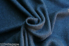 D222 LUXURIOUS PLAIN BLACK FINE PLAIN FELTED KNIT WOOL/ALPACCA- MEDIUM LIGHT WGT