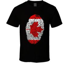 CANADA CANADIAN FINGERPRINT FLAG PRIDE T-SHIRT NEW Small-6XL maple leaf proud
