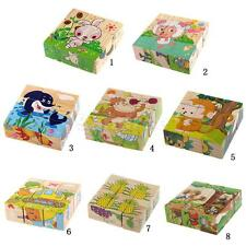 3D Wooden Farm Ocean Animals Educational Building Blocks Christmas Toys Gift