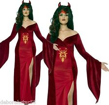 Women's Curves Devil Sexy Halloween Gothic Demon Fancy Dress Costume 16 up to 30