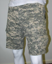 Mens Army Work/Camp/Fish Cargo Shorts -ACU Digital Camo -size 30 to size 42