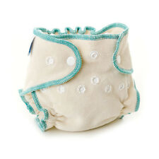 Bumkins Fitted Diaper - Soft Terry Velour Cotton and Polyester Cloth Diaper