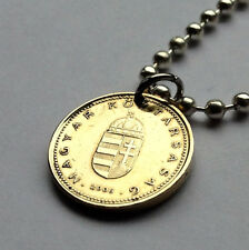 Hungary 1 forint coin pendant Hungarian necklace holy Crown Budapest n000937