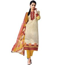 Designer Ethnic Printed Cotton Salwar Kameez Suit Indian Dress-KK-Needhi-401