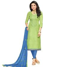 Designer Silk Embroidered Salwar Kameez Suit Dress Ready to Wear-Neckline-1011