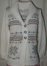 Gymboree Snowflake Glamour Sweater 5-6 Girls New Duster Cardigan Winter Nwt Twin