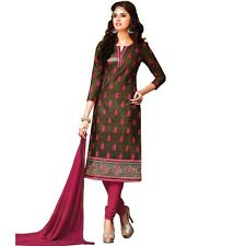 Designer Elegant Embroidery Cotton Salwar Kameez Readymade India-Venee-RG-2119-B