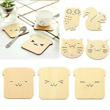 Tea Coasters Cup Holder Mat Coffee Drinks Drink Wooden Funny Animal Coaster Pad