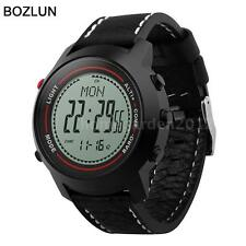 Waterproof Compass Altimeter Barometer Thermometer Watch Genuine Leather F8V4