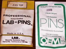 LOCK CYLINDER PINS, UNIVERSAL, LAB &/or OEM BOTTOM PINS 115B - 335B VARIATIONS!