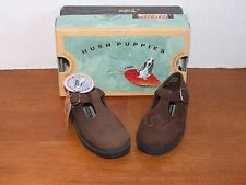 Hush Puppies Lauren Black or Brown Leather Dress Shoes Toddler