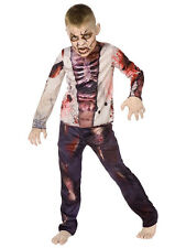 3D Zombie Skeleton Boys Halloween Fancy Dress Horror Childrens Kids Costume New