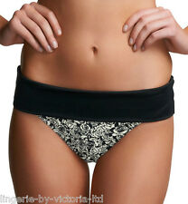 Freya Manhattan Black Fold Bikini Brief in Sizes Large & X-Large