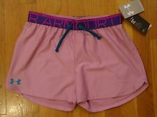 NWT UNDER ARMOUR PLAY UP SHORTS LOOSE FIT MAUVE MIST GIRLS LARGE YLG