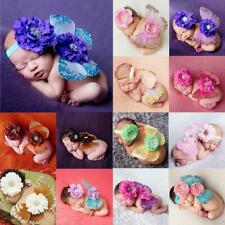 Baby Photo Props Flower Headband Fairy Glitter Butterfly Wings Costume Sets