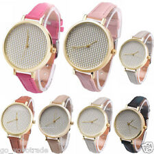 Fashion Women's Ladies Leather Strap Analog Quartz Vogue Casual Wrist Watch New