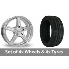 """4 x 14"""" Dezent Silver Alloy Wheel Rims and Tyres -  155/65/14"""