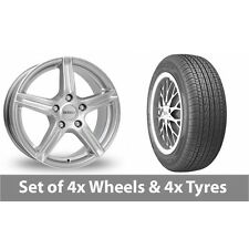 """4 x 14"""" Dezent Silver Alloy Wheel Rims and Tyres -  175/70/14"""