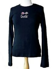 C3 LADIES CORVETTE LONG SLEEVE/T-SHIRT BLACK C3 EMBROIDERED FLAGS S-XL28.00 NEW