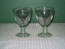 2 Vintage Hazel Atlas #110 Wine Stem Glasses 1930's Excellent Condition