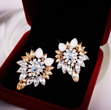 Women Fashion Lady Girls Elegant Crystal Rhinestone Ear Stud Earrings Jewelry