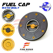 BK/GD CNC Quick Lock Fuel Cap Set For Kawasaki ZRX 1100 99-04 99 00 01 02 03 04
