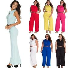 Womens New Trousers Clubwear Playsuit Bodycon Party Summer Jumpsuit Romper V0B6