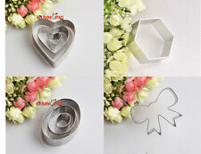 Butterfly Knot Oval Heart-shaped Hexagonal Cookie Cake Chocolate  Mould Cutter