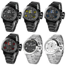 Fashion Men Stainless Steel Waterproof Army Military Leisure Quartz Wrist Watch