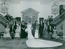 Vintage photo of Princess Margriet's family picture after the wedding. -