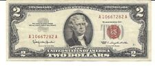 1963 $2 United States Note  Gorgeous RED SEAL Note !