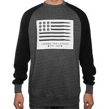 Crooks & Castles The Under Surveillance Sweatshirt in Charcoal Speckle NWT CRKS