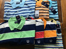 NWT Chaps Ralph Lauren Men Short Sleeve RUGBY STRIPE POLO Shirt Sz S/M/L/XL/2XL