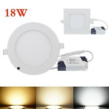 Bright White 18W Dimmable LED Recessed Ceiling Panel Down Light Lamp AC85V~265V
