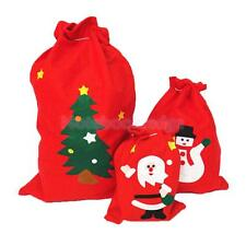Christmas Santa Claus Snowman Style Non-woven Fabric Large Shopping Bag Red