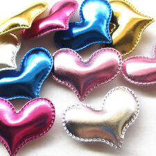 30/150PCS Sweet Heart Paded Appliques Wedding Birthday Party Decor Lots Mix A517