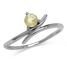 Petite Genuine Opal White Gold Plated 925 Sterling Silver Promise Ring