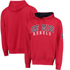 Ole Miss Rebels Colosseum Double Arch Pullover Hoodie - Red - College
