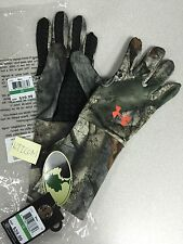 Under Armour Men's Camo Cold Gear Liner Full Hunting Gloves Mossy Oak Treestand