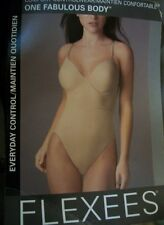 NWT BEIGE Flexees One Fabulous Body Briefer 6456 full support