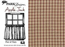 Country Plaid Apple Jack Tiers by Park Designs, 2 Sizes, Wine and Tan, 447-48