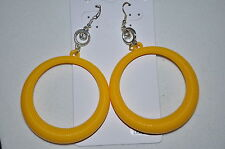 LG Acrylic CIRCLE dangle Costume Fashion pierced wire post earrings brand new