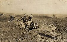 RPPC,Exaggeration Postcard,Catching a Giant Jack Rabbit,Martin,Used,Enid,1909