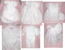 2 Piece Christening Baptismal Dress/Boy Pant Suit Setwith Hat Rosebud Pearl NEW