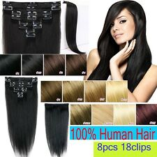 Fastest Brown Black Clip In Remy 100% Human Hair Extensions Full Head 70g MX857