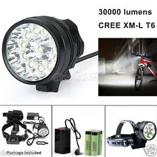 30000LM CREE T6 LED Bicycle Lamp Bike Light Headlight Waterproof Headlamp 18650