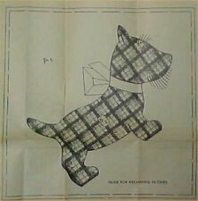 Vintage Quilt Pieced Pattern Mail Order Scotty Dog Block Design Quilter Sewing