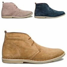 London Brogues Ladies Womens Real Suede Leather Casual Lace Up Desert Boots