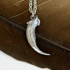Silver Eastern Brush Wolf Claw Pendant Necklace 500